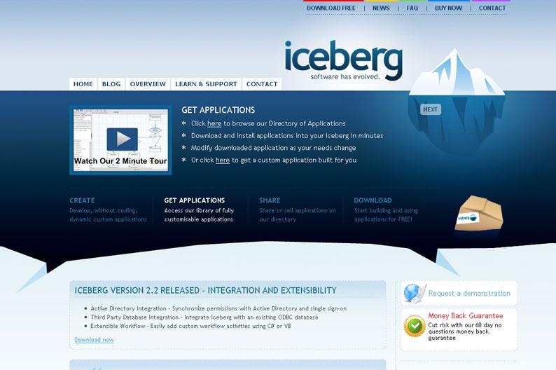 Web Design Inspiration - Iceberg - Design-sector