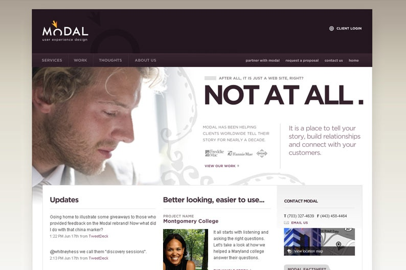 Web Design Inspiration Modal Design Sector