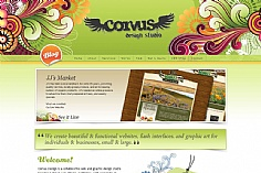 Corvus Art web design inspiration