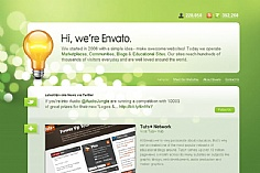 Envanto web design inspiration