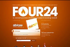 Four24 web design inspiration