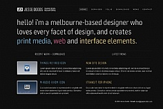 Jesse Dodds web design inspiration