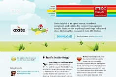 Oxite web design inspiration