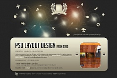 PSD Layout web design inspiration