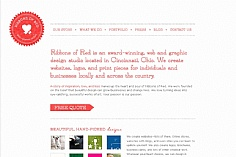 Ribbons of Red web design inspiration