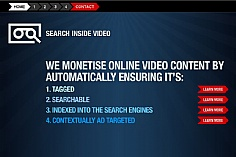 Search Inside Video web design inspiration