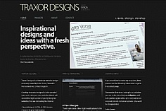 Traxor Designs web design inspiration