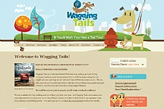 Wagging Tails web design inspiration