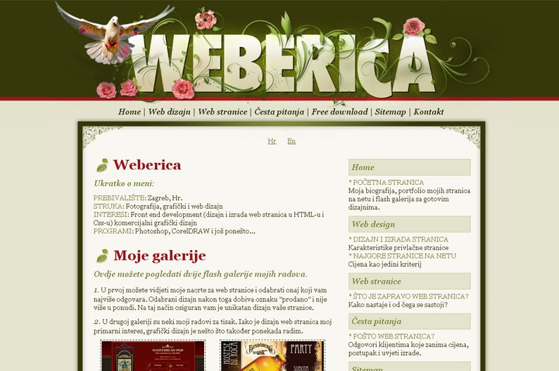 Screenshot on Weberica